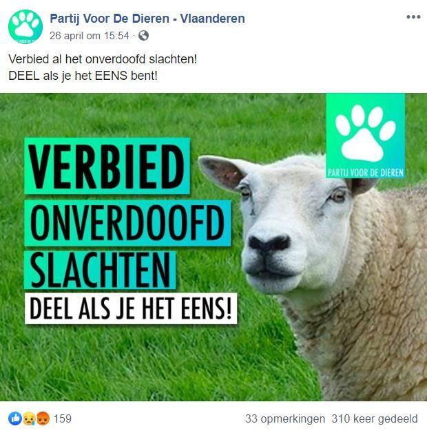 Partij Voor De Dieren Vlaanderen Facebookpagina