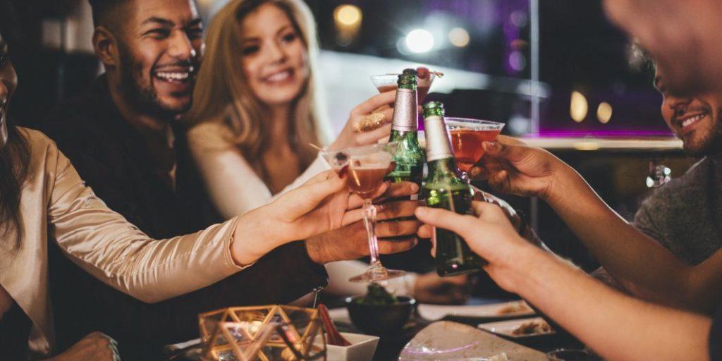 Drinken alcohol schol