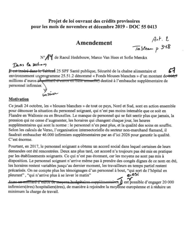 amendement PVDA