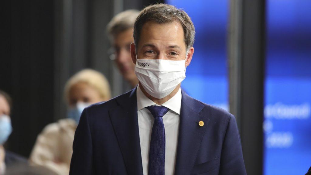 Alexander De Croo mondmasker