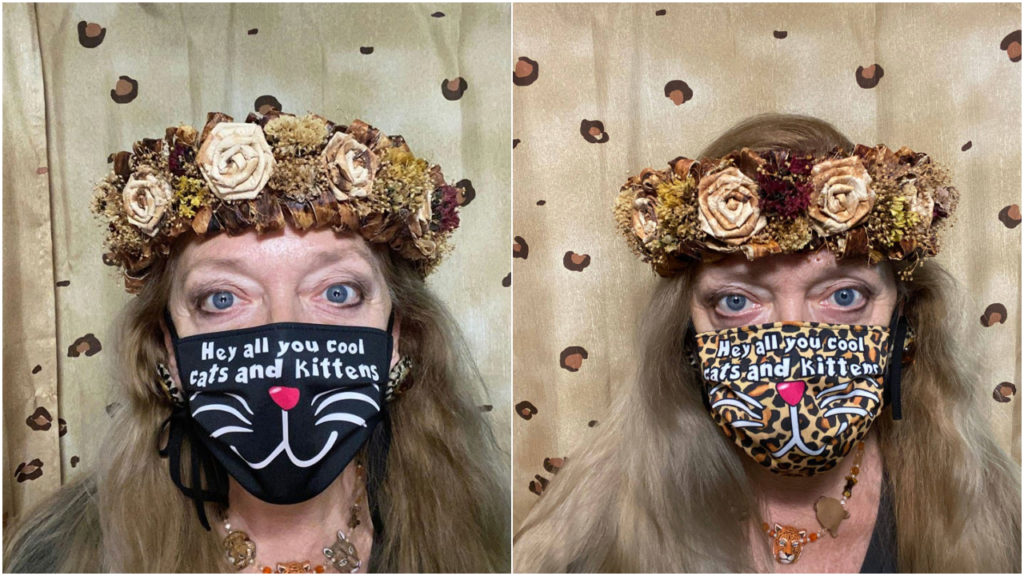 Carole Baskin Tiger King mondmaskers