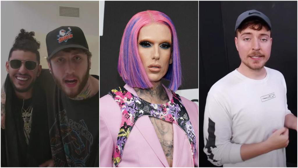 Faze Clan, Jeffree Star, MrBeast