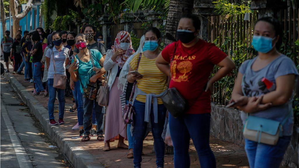 Filippijnen coronavirus vrouwen