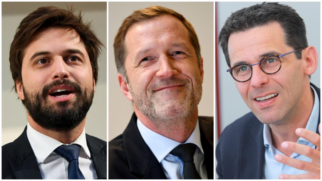 Georges-Louis Bouchez (MR), Paul Magnette (PS), Jean-Marc Nollet (Ecolo)