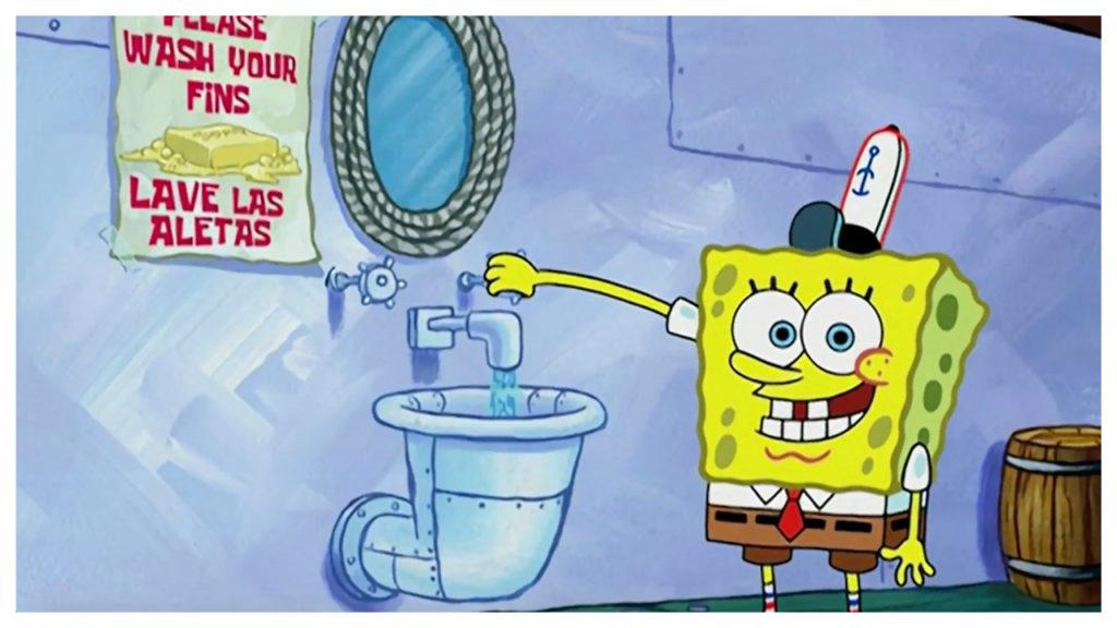 cast spongebob gaat bekende scènes herwerken
