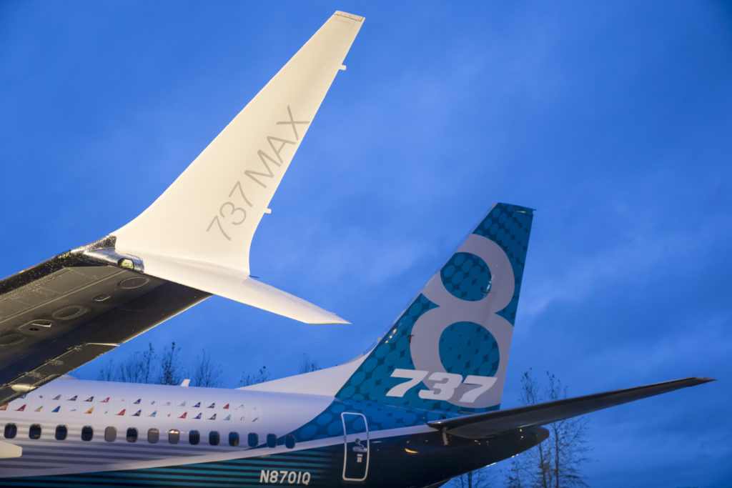 Boeing Shows Media Its First 737 MAX Airliner