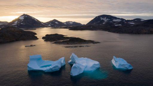 Gesmolten ijs Groenland