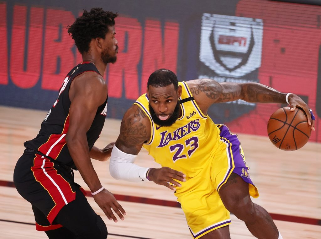 Jimmy Butler Miami Heat LeBron James LA Lakers NBA Finals