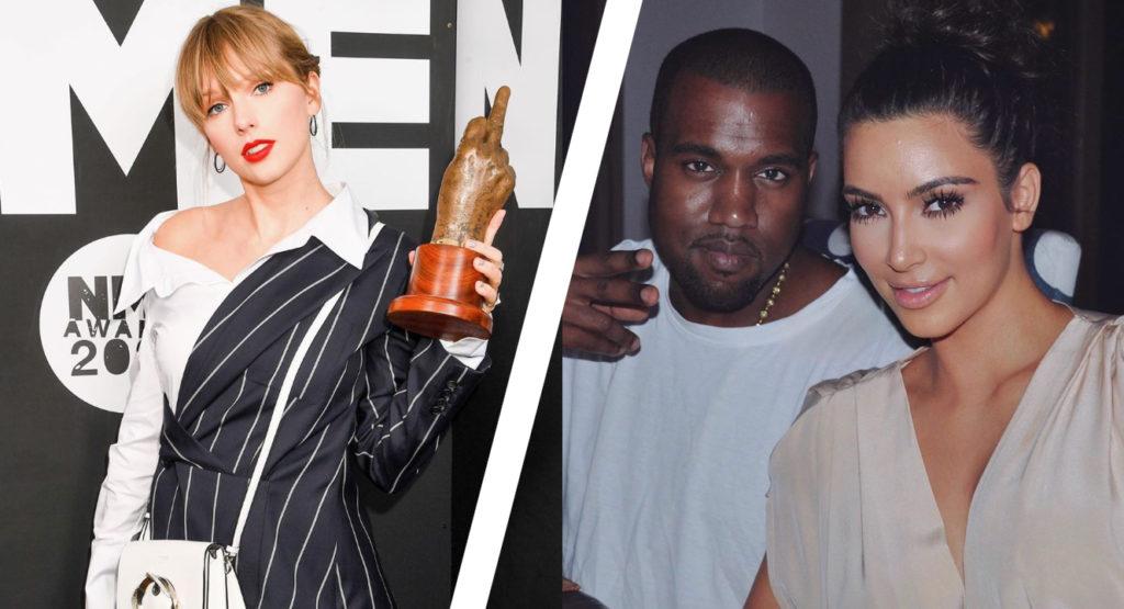 Kim Kardashian houdt de vete met Taylor Swift hoog
