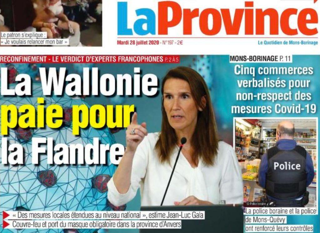 La Province 'La Wallonie paie pour la Flandre'