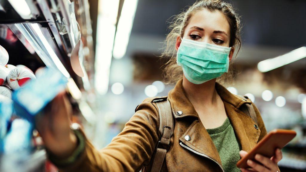 Mondmasker winkel coronavirus