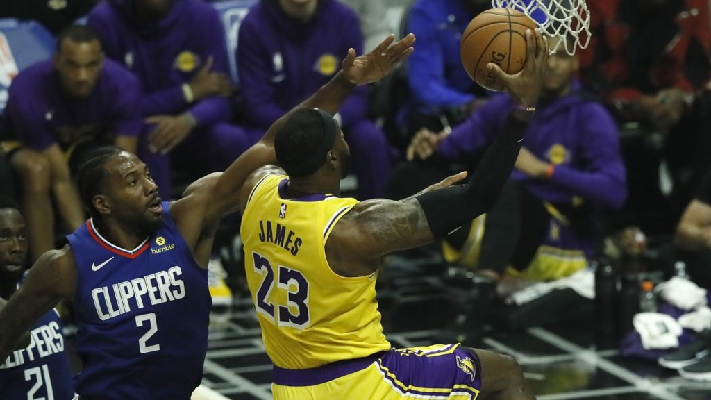 NBA Lebron James Kawhi Leonard LA Lakers Clippers