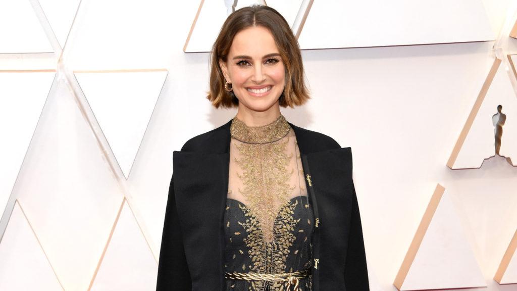 Natalie Portman Oscars Academy Awards Cape
