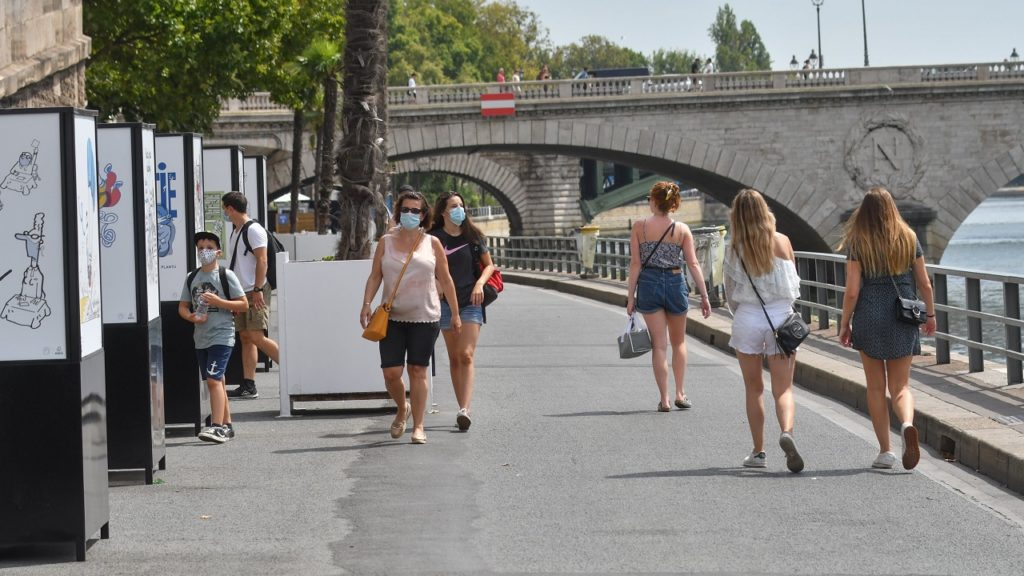 Parijs Frankrijk Mondmasker coronavirus