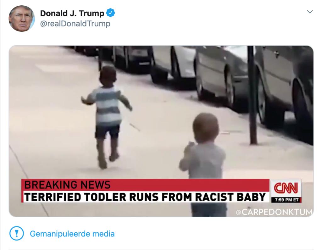 Donald Trump Twitter Label Gemanipuleerde Media