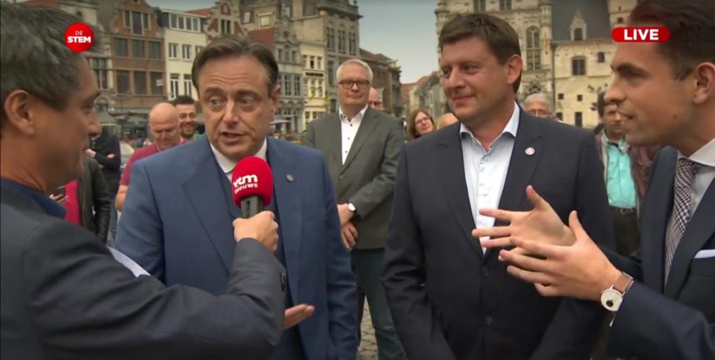 Bart De Wever, John Crombez en Tom Van Grieken op VTM