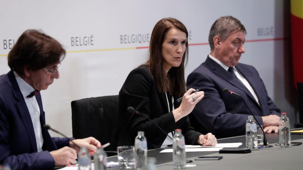 Sophie Wilmès Persconferentie Veiligheidsraad