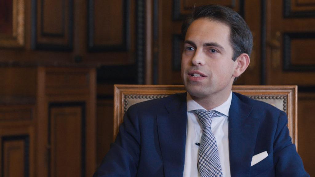 Vlaams Belang-voorzitter Tom Van Grieken