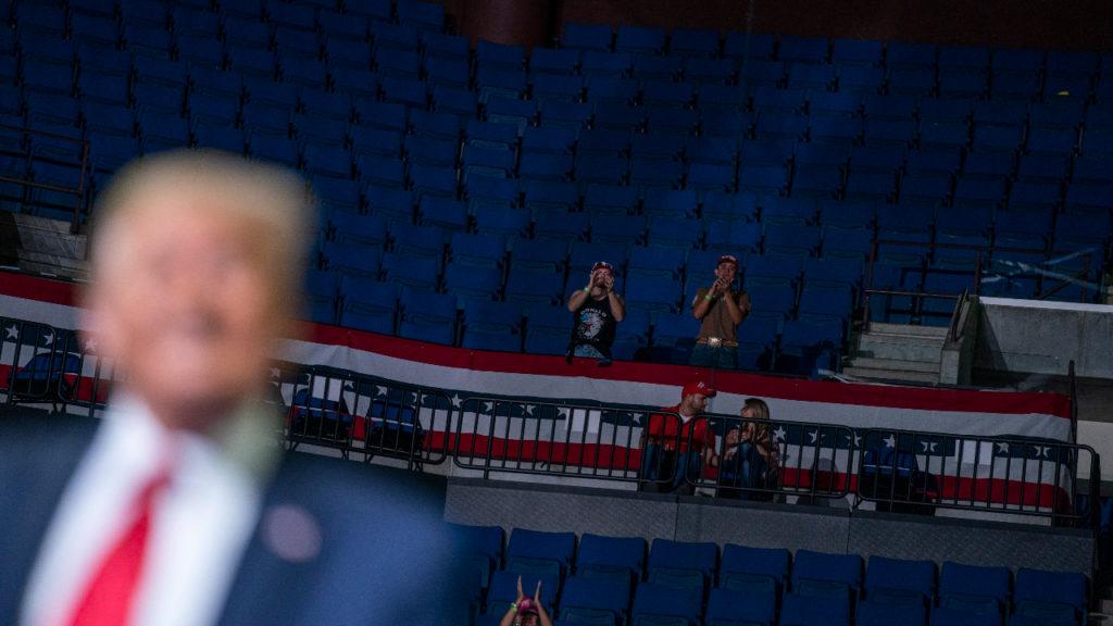 Trump Tulsa leeg