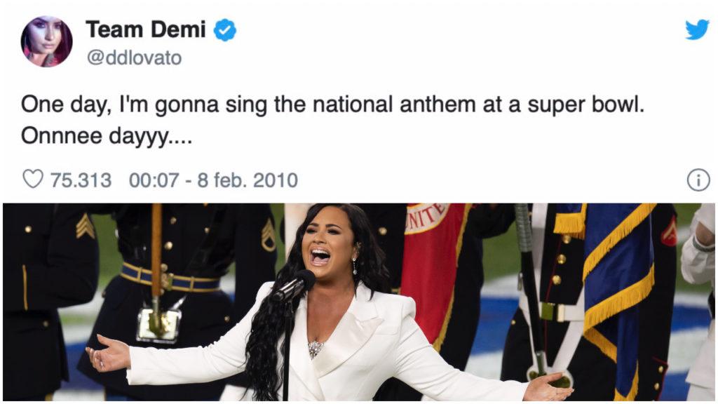 Demi Lovato zingt volkslied op Super Bowl