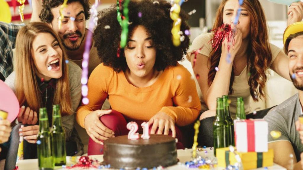 Verjaardag taart bacteriën