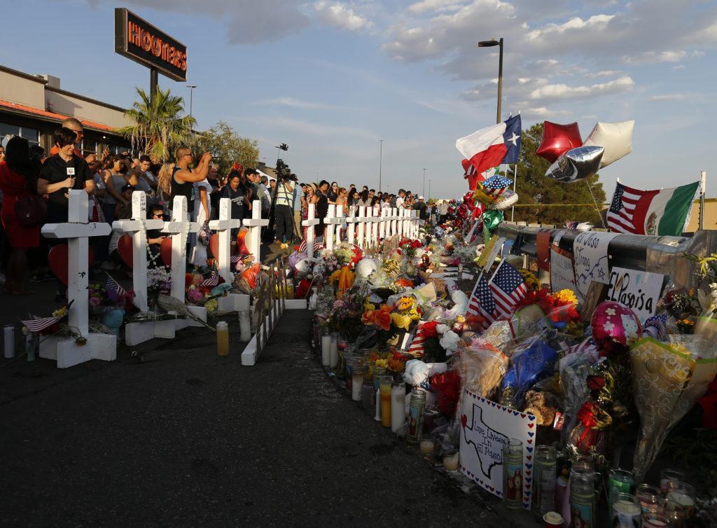 Zo ziet de locatie van de schietpartij in El Paso er nu uit.