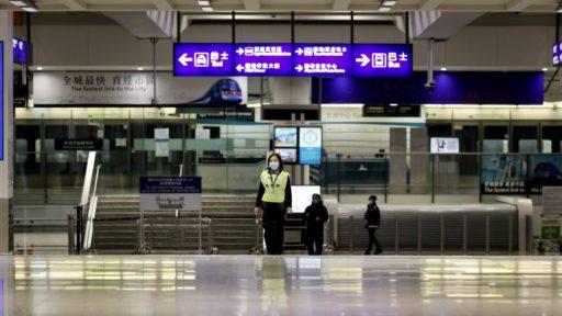 Lege luchthaven in China door coronavirus