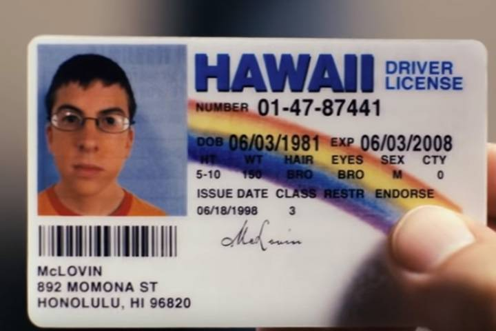 McLovin Superbad fake-ID
